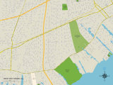 Political Map of West Bay Shore, NY Photo