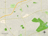 Political Map of Crestwood, MO Prints
