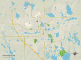 Political Map of Fergus Falls, MN Posters