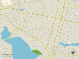 Political Map of Neptune City, NJ Prints