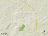 Political Map of Siler City, NC Prints