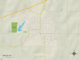 Political Map of Bristow, OK Photo