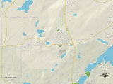 Political Map of Eveleth, MN Photo