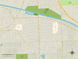 Political Map of Palos Heights, IL Prints