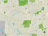 Political Map of Winfield, IL Photo