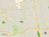 Political Map of Uniondale, NY Prints
