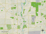 Political Map of Saint Charles, IL Photo