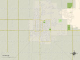 Political Map of Altus, OK Photo