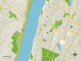 Political Map of Yonkers, NY Posters