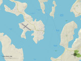 Political Map of Eastport, ME Prints