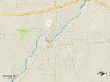 Political Map of Houlton, ME Prints