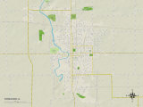 Political Map of Streator, IL Prints
