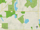 Political Map of North Barrington, IL Prints