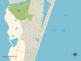 Political Map of Carolina Beach, NC Posters