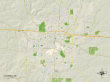 Political Map of Columbia, MO Prints