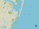 Political Map of Ocean City, MD Posters