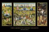 Maallisten ilojen puutarha (The Garden of Earthly Delights), noin 1504 Posters tekijänä Hieronymus Bosch