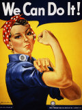 Wir können das!|We Can Do It! (Rosie the Riveter) Kunstdruck von J. Howard Miller