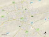 Political Map of Hazleton, PA Prints