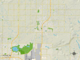 Political Map of Owasso, OK Prints