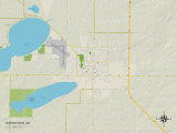 Political Map of Watertown, SD Prints