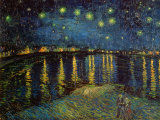 Stjernenatt over Rhône, ca. 1888 Kunst av Vincent van Gogh