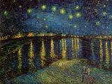 Tähtitaivas Rhonen yllä, n. 1888 Taide tekijänä Vincent van Gogh