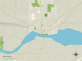 Political Map of Yankton, SD Prints