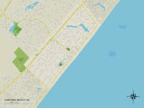 Political Map of Surfside Beach, SC Poster