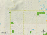 Political Map of Turley, OK Prints