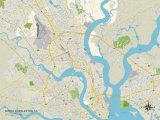 Politische Karte von North Charleston, South Carolina Kunstdrucke