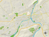 Political Map of Easton, PA Print