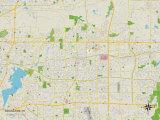Political Map of Arlington, TX Prints
