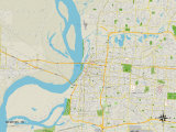 Political Map of Memphis, TN Prints