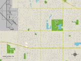 Political Map of Warr Acres, OK Posters