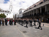 Army Band Marching for the Changing of the Presidential Guard Ceremony, Plaza De La Independencia,  Photographic Print