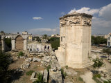 Ruins of a Tower, Tower of the Winds, Roman Agora, Athens, Attica, Greece Photographic Print
