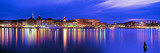 Buildings at the Waterfront Lit Up at Dusk, Stockholm, Sweden Photographic Print by  Panoramic Images