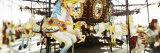 Close-Up of Carousel Horses  Coney Island  Brooklyn  New York City  New York State  USA