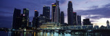 Buildings at the Waterfront, Singapore River, Singapore Photographic Print by  Panoramic Images