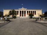 Facade of University Building, National and Kapodistrian University of Athens, Attica, Greece Photographic Print