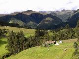 Farmhouse at the Hillside, Otavalo, Imbabura Province, Ecuador Photographic Print