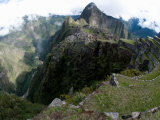 View of Incan Ruins, Machu Picchu, Peru Photographic Print