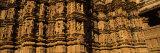 Carving Details of Temple, Khajuraho Temple, Khajuraho, Chhatarpur District, Madhya Pradesh, India Photographic Print by  Panoramic Images