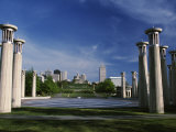 Colonnade in Park, 95 Bell Carillons, Bicentennial Mall State Park, Nashville, Tennessee Photographic Print