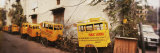 Public School Rickshaws Parked in Front of a Building, Old Delhi, Delhi, India Photographic Print by  Panoramic Images