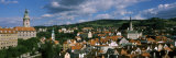 Castle in Town, Cesky Krumlov Castle, Cesky Krumlov, South Bohemian Region, Czech Republic Photographic Print by  Panoramic Images