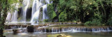 Waterfall in a Forest, Cuisance Waterfall, Jura, Franche-Comte, France Lámina fotográfica por Panoramic Images