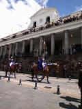 Soldiers Parade During Changing of the Guard Ceremony, Plaza De La Independencia, Quito, Ecuador Photographic Print