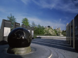 World War II Memorial with Black Granite Globe, Bicentennial Mall State Park, Nashville Photographic Print